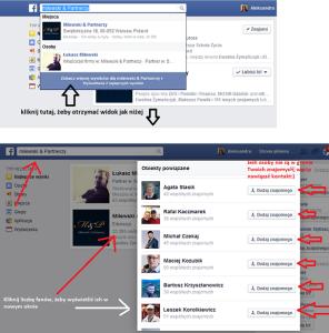 kontakty z Facebooka