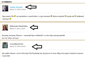 komentarze na blogu