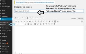przekierowanie wordpress