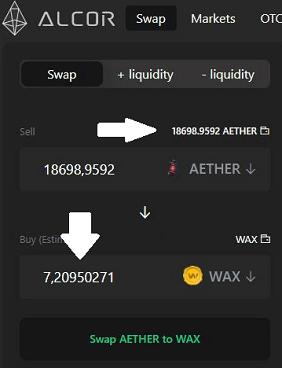 wymiana aether na wax